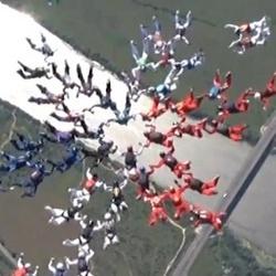 Российские парашютистки установили мировой рекорд (репортаж и видео)