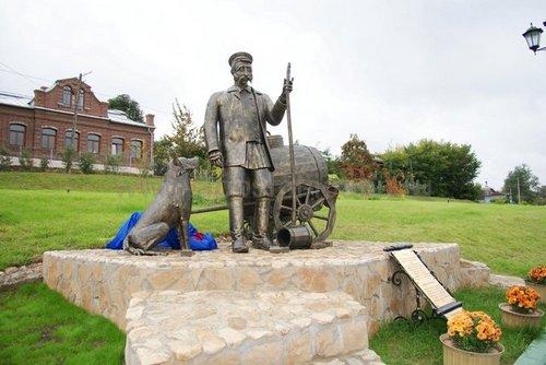 Открытие памятника водовозу в Коломне