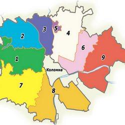 В границах района: населенные пункты Коломенского района