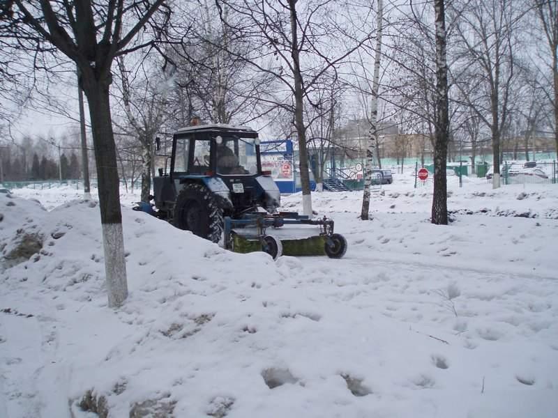 Виды Коломны. Колычёво. Уборка снега.