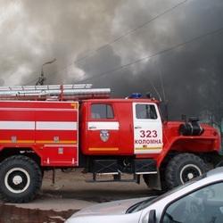 Пожар в Голутвине. Фото