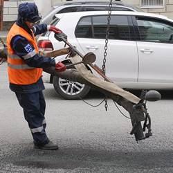 Коломенское ДРСУ на днях получило новую машину для ремонта автодорог