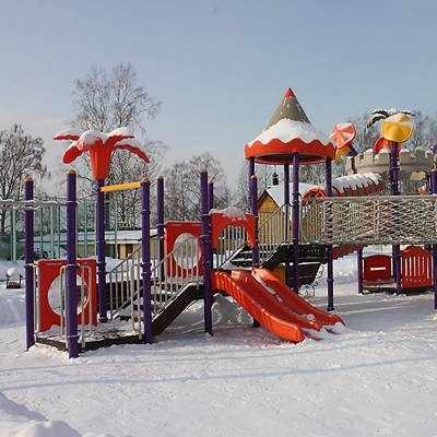 детская площадка Коломна зима
