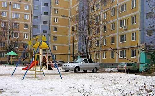 Коломна двор машина парковка детская площадка
