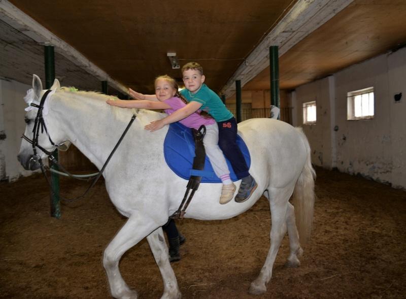 Дошкольники Коломны показали мастер-класс верховой езды