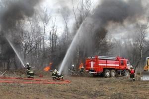 Более тысячи спасателей Подмосковья отработали навыки тушения природных и техногенных пожаров