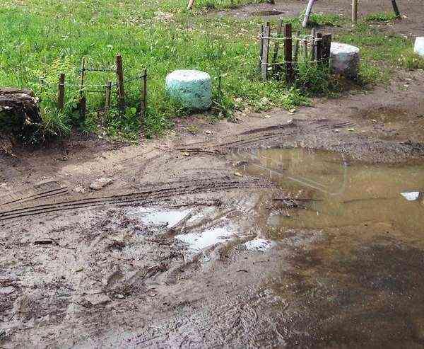 Коломна двор грязь