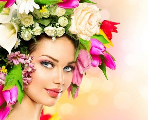 девушка цветы красота салон Коломна